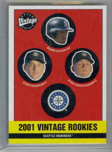 Photo of 2001 Upper Deck Vintage #346 Ichiro Suzuki Rookie Card