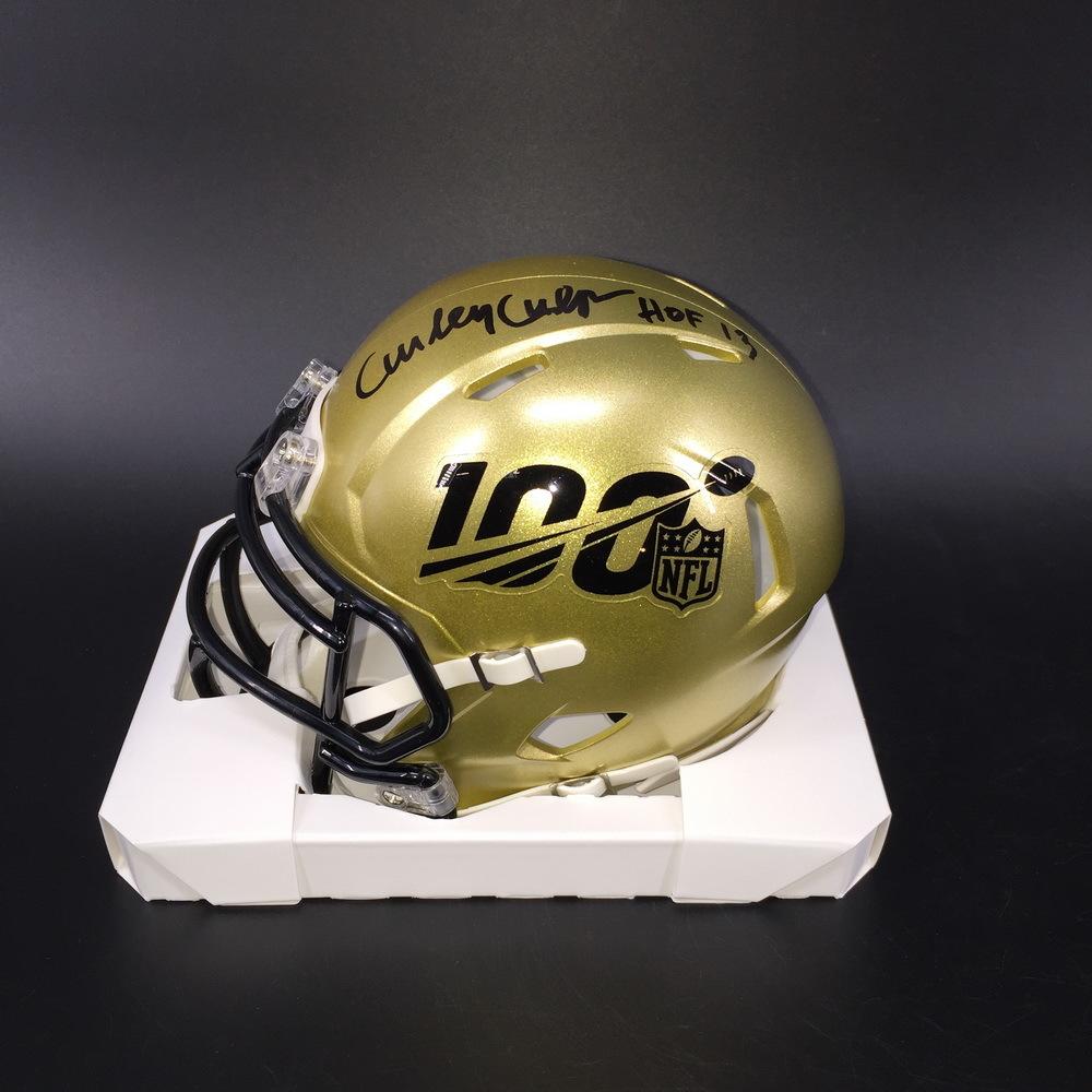 HOF - Chiefs Curley Culp Signed NFL 100 Mini Helmet