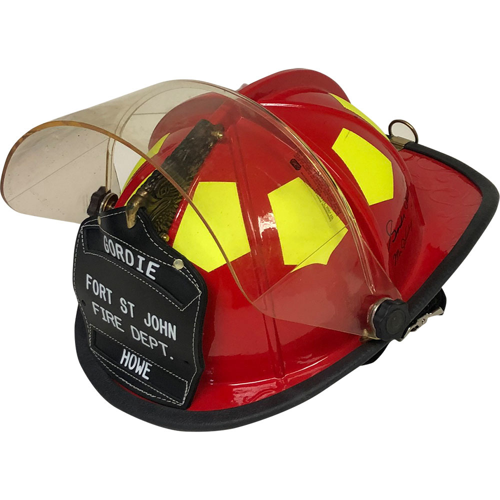Fort St John Fire Department Helmet - Personalized for Gordie Howe