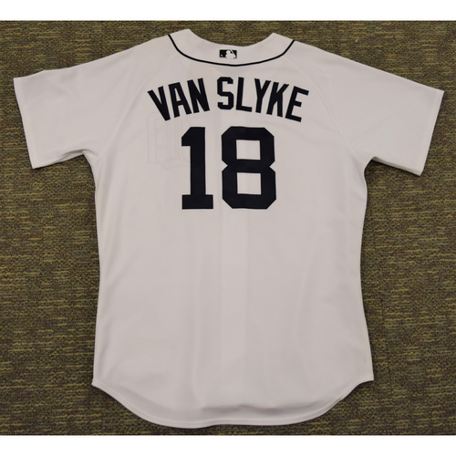 Photo of Andy Van Slyke Detroit Tigers #18 Spring Training Home Jersey (NOT MLB AUTHENTICATED)