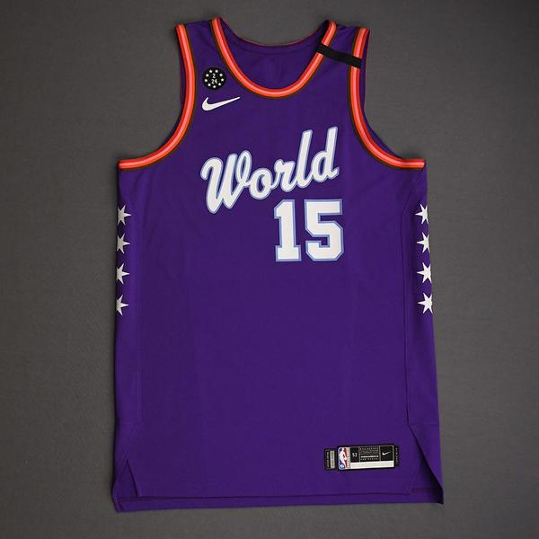 Image of Brandon Clarke - 2020 NBA Rising Stars - Team World - Game-Worn 1st Half Jersey