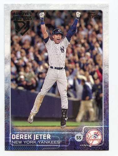 Photo of 2017 Topps Archives Derek Jeter Retrospective #DJ23 Derek Jeter SP/'15 Topps REPRINT