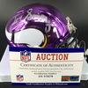 NFL - Vikings Irv Smith Jr. Signed Chrome Mini Helmet