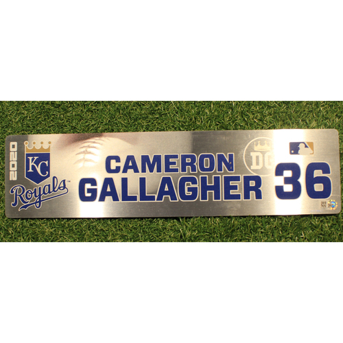 Photo of Game-Used Locker Tag: Cam Gallagher #36 (DET @ KC 9/24/20)