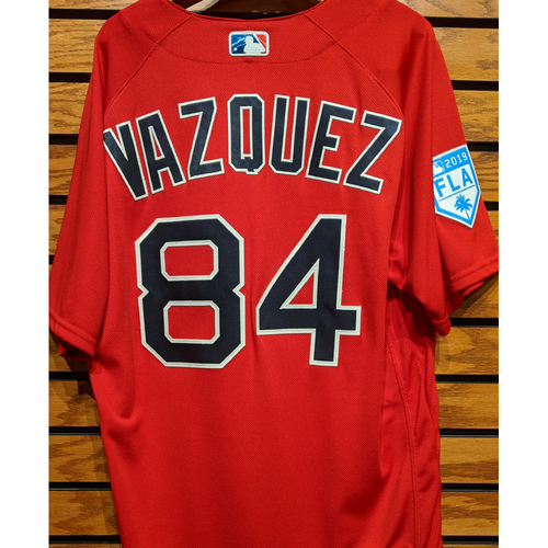 Photo of Ramon Vazquez #84 2019 Spring Training Team Issued Red Jersey