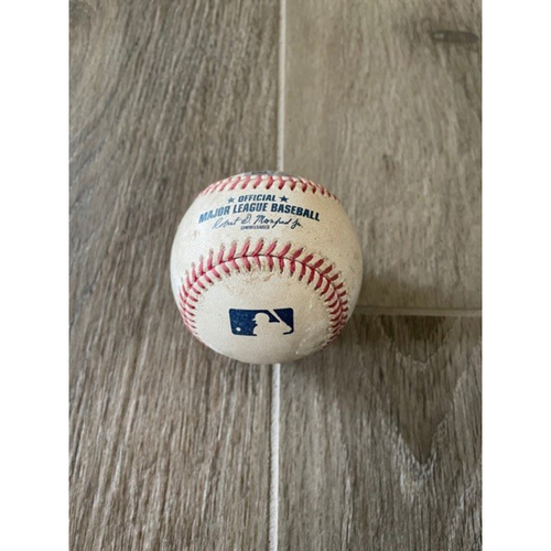 Photo of 9/9/20 Game-Used Baseball, Dodgers vs. D-backs: Junior Guerra vs. Cody Bellinger (Swinging Strike Out)