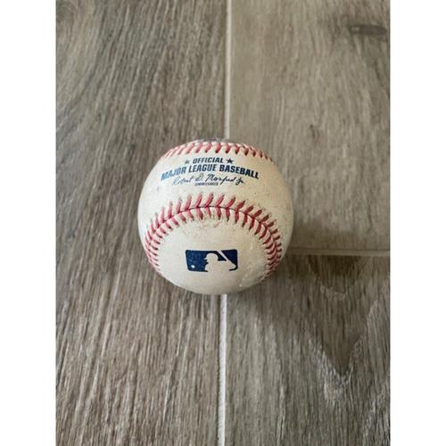 9/9/20 Game-Used Baseball, Dodgers vs. D-backs: Junior Guerra vs. Cody Bellinger (Swinging Strike Out)