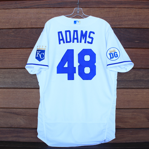 Photo of Game-Used 2020 Los Reales Jersey: Chance Adams #48 (PIT @ KC 9/12/20) - Size 46
