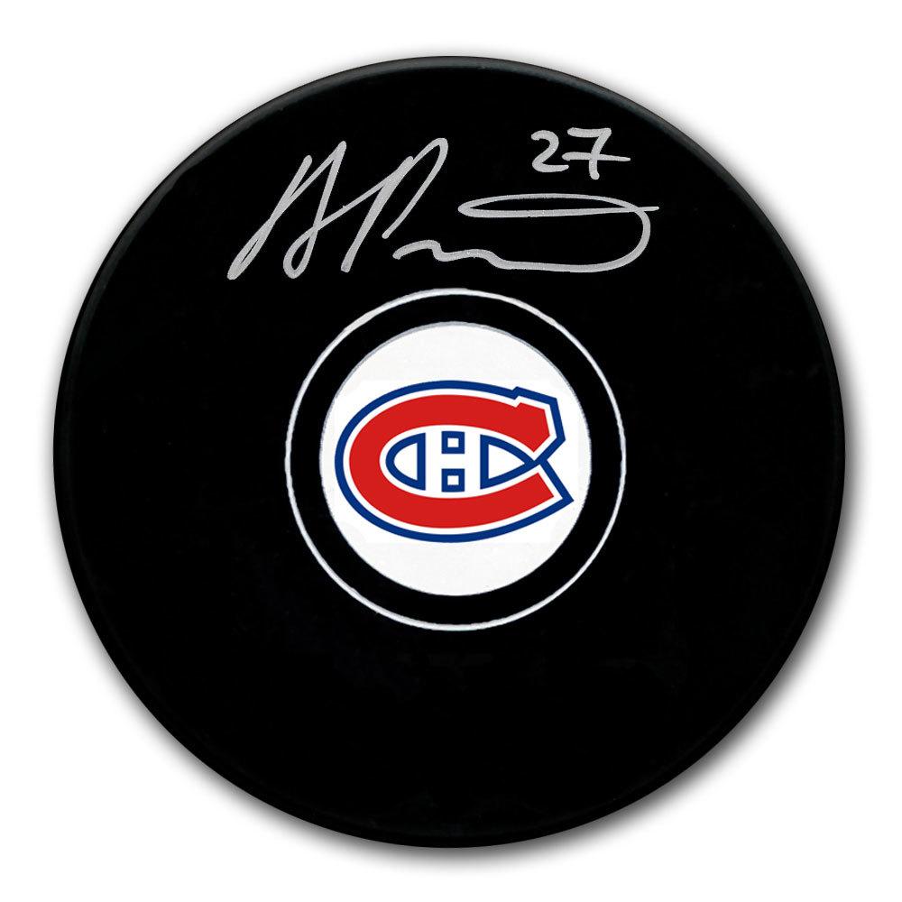 Alexander Romanov Montreal Canadiens Autographed Puck