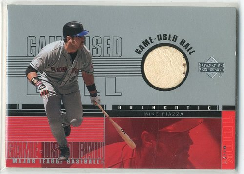 Photo of 2001 Upper Deck Game Ball 2 #BMP Mike Piazza