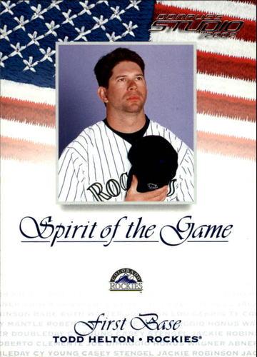 Photo of 2002 Studio Spirit of the Game #20 Todd Helton