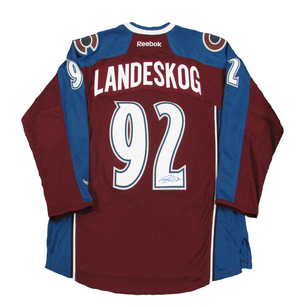 GABRIEL LANDESKOG Signed Colorado Avalanche Burgundy Reebok Jersey
