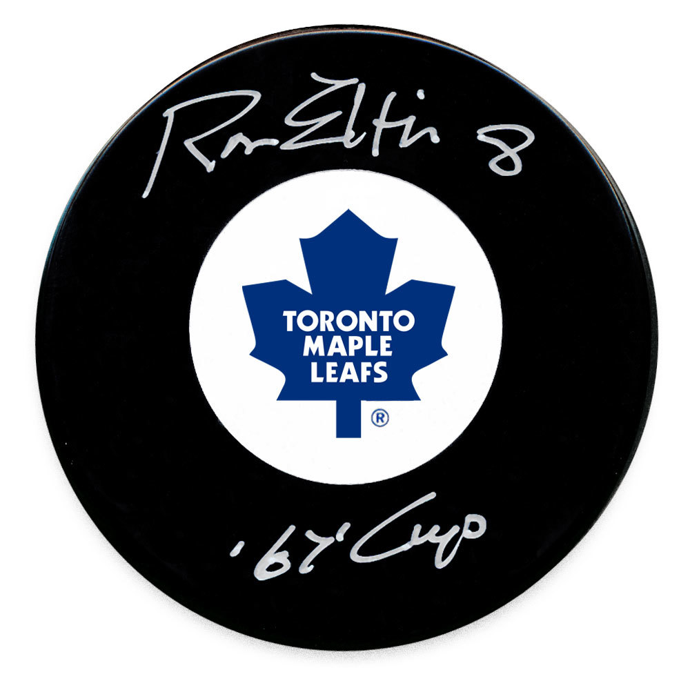 Ron Ellis Toronto Maple Leafs 1967 Cup Autographed Puck
