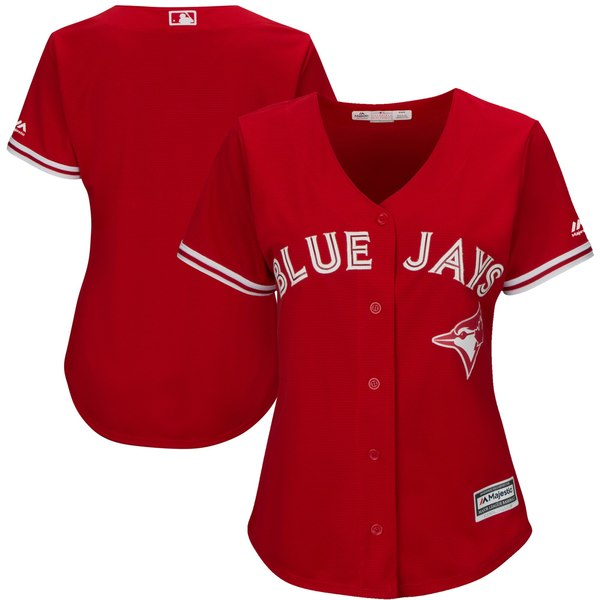 Toronto Blue Jays Women's Replica Alternate Red Jersey by Majestic