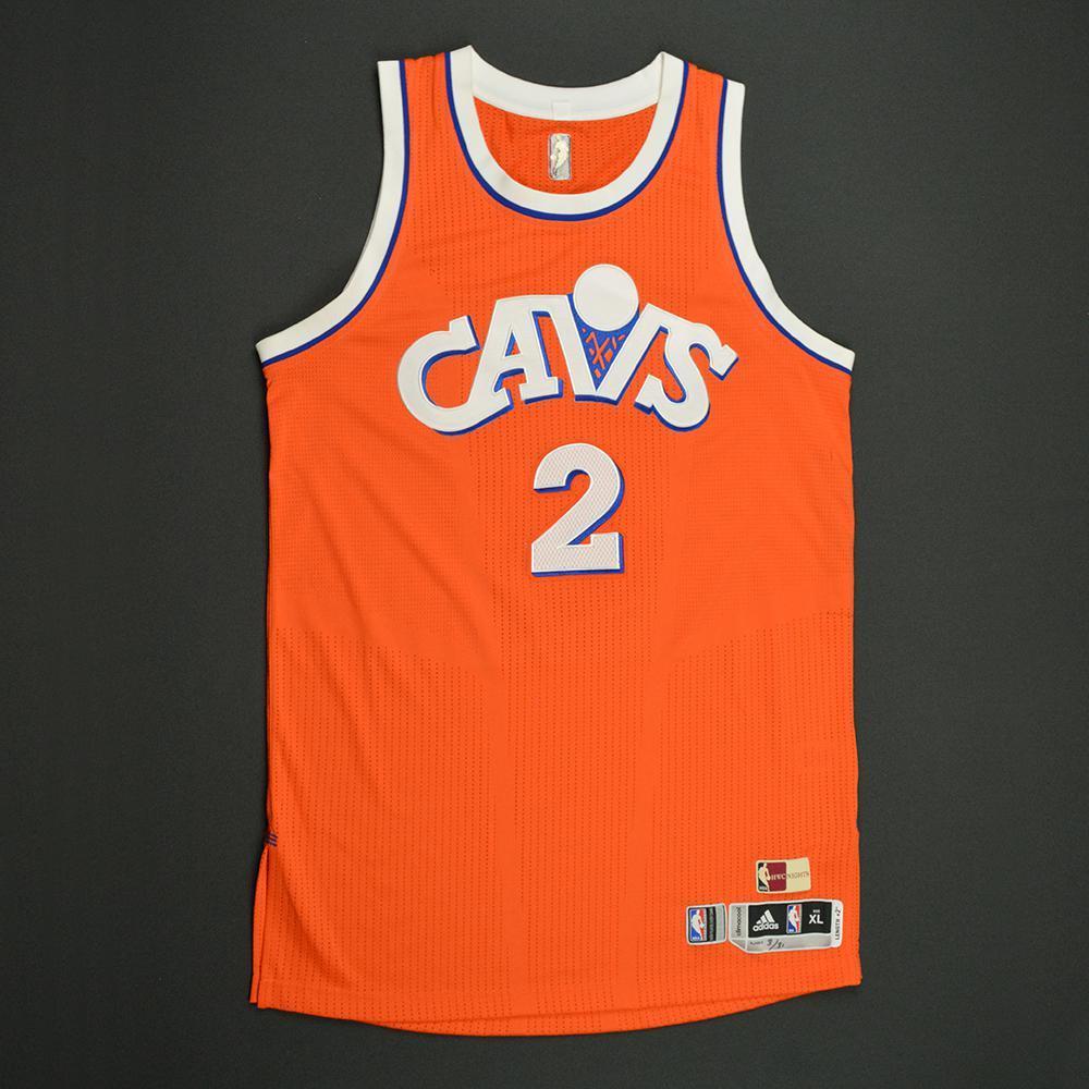 90d43e66e50c Kyrie Irving - Cleveland Cavaliers - Game-Worn Orange  1986-87 Road Hardwood