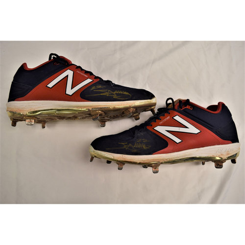 Miguel Sano Autographed Cleats Benefitting Pet Pal Animal Shelter