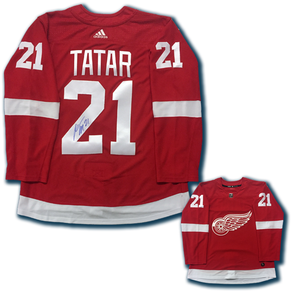 Tomas Tatar Signed Detroit Red Wings Red Adidas Jersey Nhl Auctions