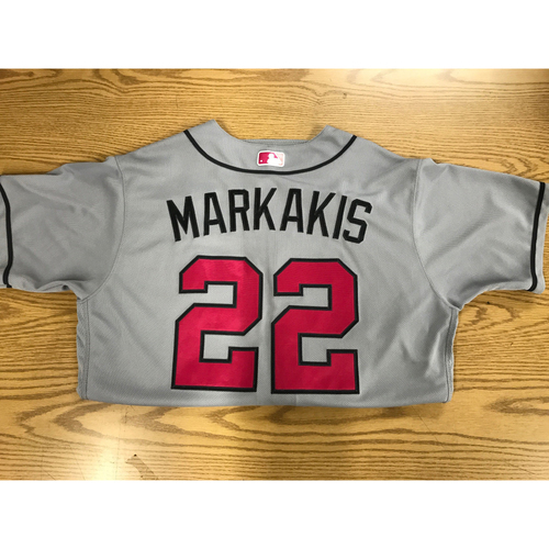 Photo of Nick Markakis Game-Used Mother's Day Jersey