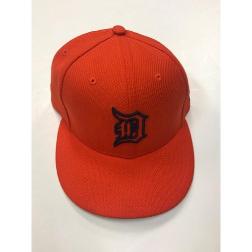 Photo of Team-Issued Orange Alan Trammell Cap