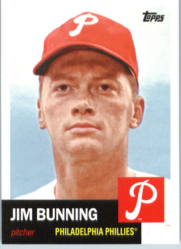 Photo of 2016 Topps Archives #95 Jim Bunning Hall of Fame Class of 1996