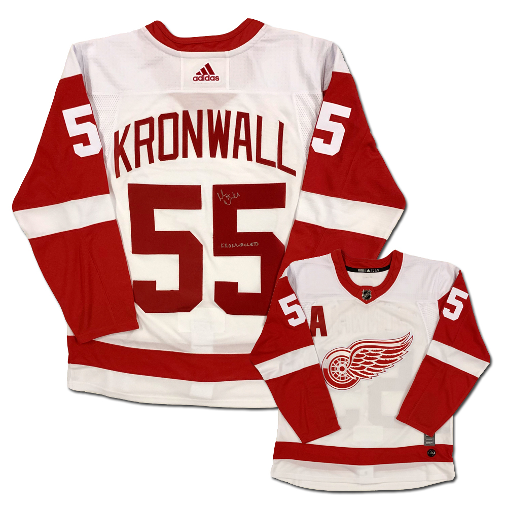 Niklas Kronwall Signed Detroit Red Wings White Adidas Jersey with