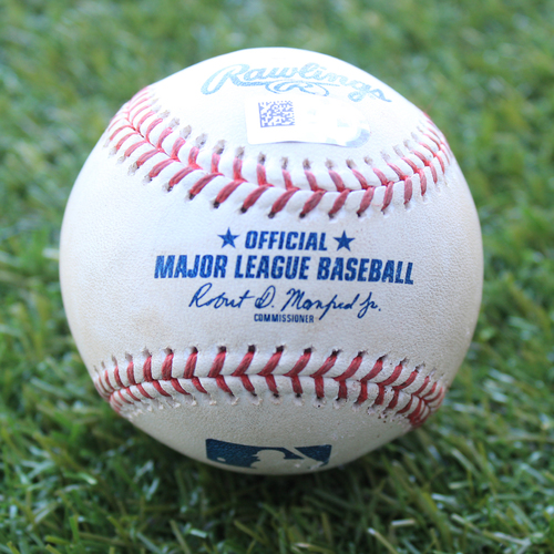 Photo of Game-Used Baseball: James McCann 70th Career Double and 191st & 192nd Career RBIs (CWS @ KC - 6/7/19)