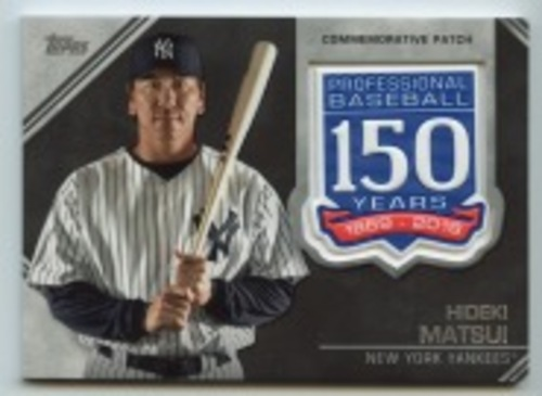Photo of 2019 Topps Update 150th Anniversary Manufactured Patches #AMPHM Hideki Matsui