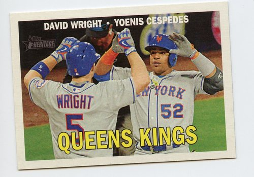 Photo of 2016 Topps Heritage Combo Cards #CC16 Yoenis Cespedes/David Wright