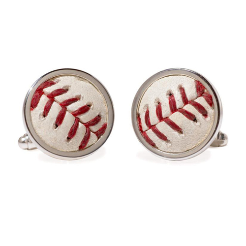 Photo of Cleveland Indians Game Used Baseball Cuff Links