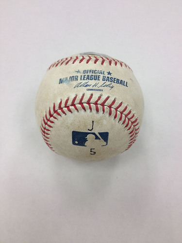September 28, 2014 Yankees at Red Sox Game-Used Ball - Derek Jeter's Last MLB Out