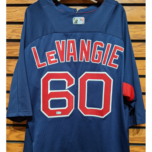 Photo of Coach Dana LeVangie #60 Team Issued Blue Batting Practice Jersey