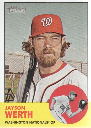 Photo of 2012 Topps Heritage #47 Jayson Werth
