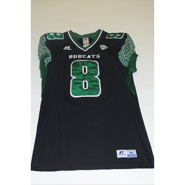 Photo of # 8 - Official OHIO BOBCATS Game Worn Football Jersey (2011) - SIZE MEDIUM