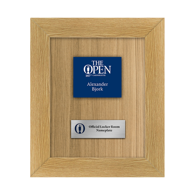 Photo of Alexander Bjork, The 147th Open Championship Official Carnoustie Locker Room Nameplate Framed
