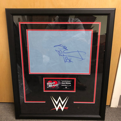 Photo of Shawn Michaels Signed & Framed Ring Canvas Plaque (#2 of 6)