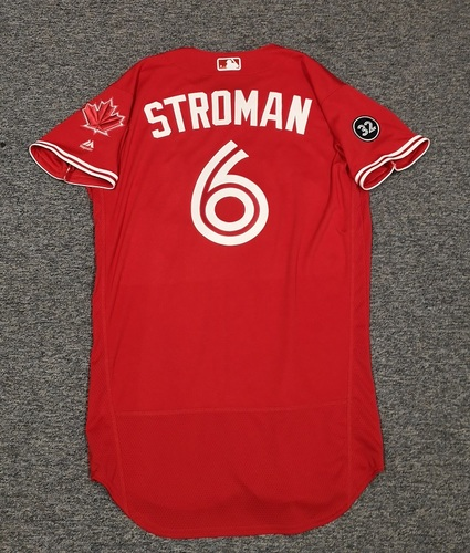 Photo of Authenticated Team Issued Canada Day Jersey - #6 Marcus Stroman (2018 Season). Size 42.