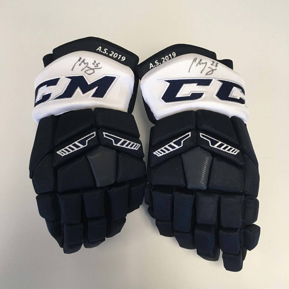 2019 Lexus AHL All-Star Classic Gloves Worn and Signed by #25 Chris Terry