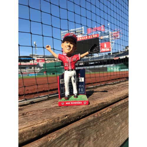 Photo of Max Scherzer Autographed Bobble Head - No Hitter # 1