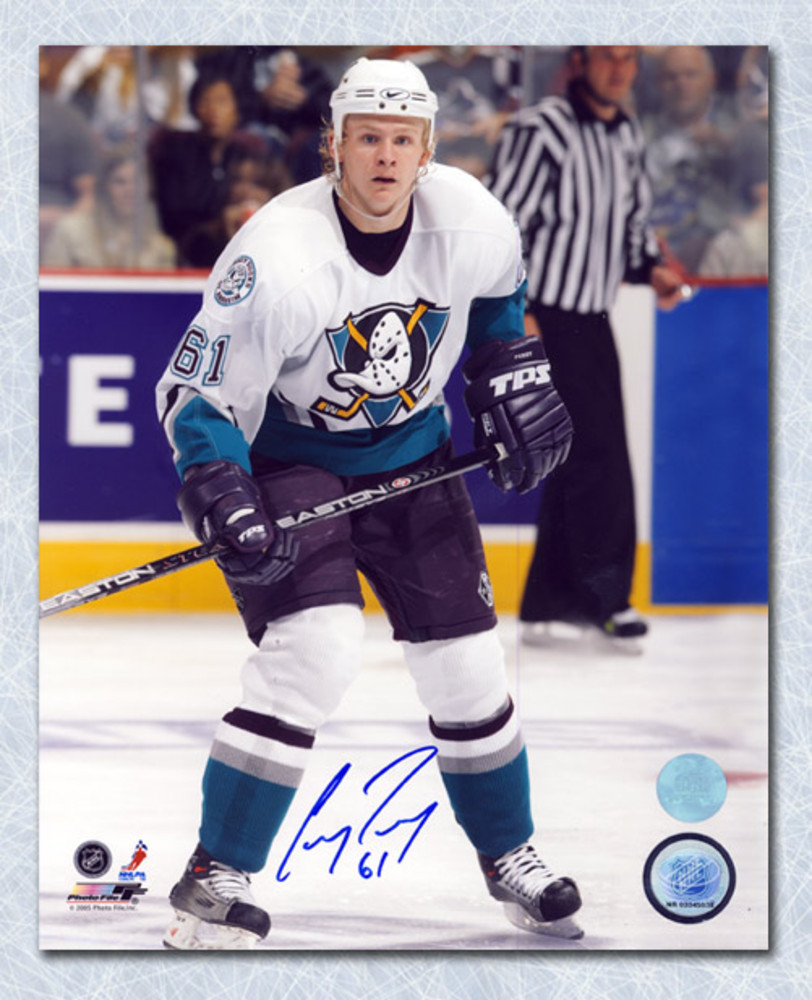 Corey Perry Anaheim Ducks Autographed Rookie Mighty Ducks 8x10 Photo