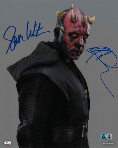 Ray Park and Sam Witwer As Darth Maul  8X10 AUTOGRPAHED IN 'BLUE' INK PHOTO