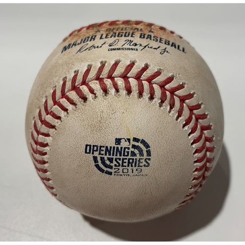 Photo of 2019 Japan Opening Day Series - Game Used Baseball - Batter: Daniel Vogelbach, Pitcher : Ryan Buchter - HBP - 3/20/19
