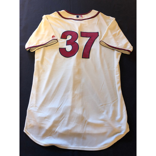 David Hernandez -- Game-Used 1935 Throwback Jersey and Pants -- Rangers vs. Reds on June 15, 2019 -- Jersey Size 50 / Pants Size 40-47-18