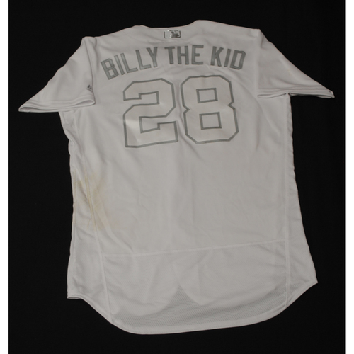"Photo of Billy ""BILLY THE KID"" McKinney Toronto Blue Jays Game-Used 2019 Players' Weekend Jersey"