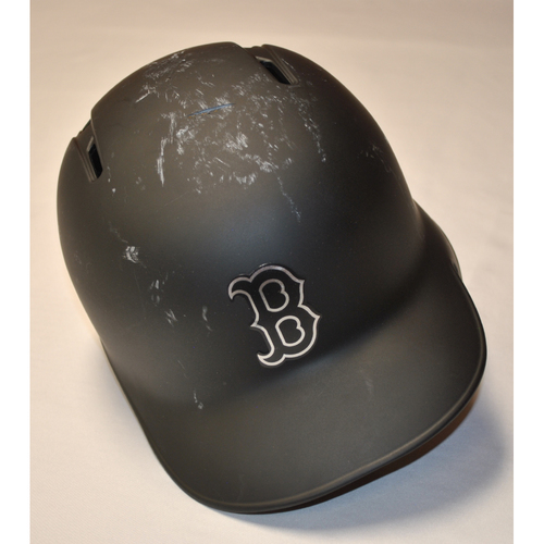 "Photo of J.D. ""FLACO"" Martinez Boston Red Sox Game-Used 2019 Players' Weekend Helmet"