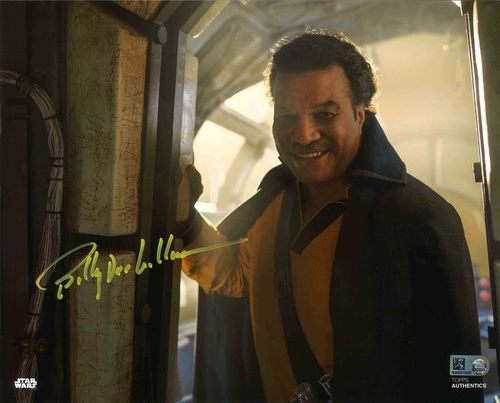 Billy Dee Williams As Lando Calrissian 8X10 AUTOGRAPHED IN 'Yellow' INK PHOTO