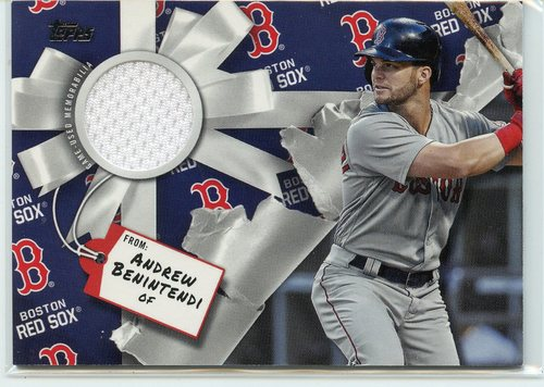 Photo of 2019 Topps Walmart Holiday Relics #WHRAB Andrew Benintendi