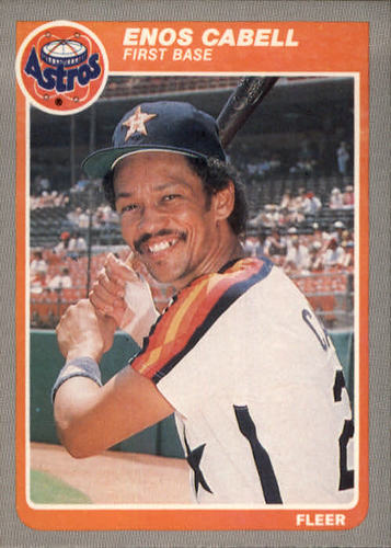 Photo of 1985 Fleer #346 Enos Cabell