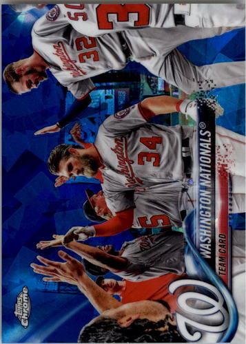 Photo of 2018 Topps Chrome Sapphire Edition #349 Washington Nationals