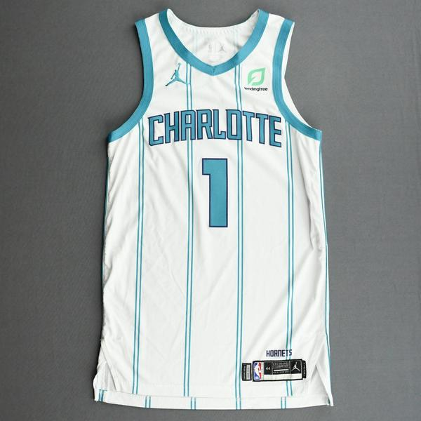 Image of Malik Monk - Charlotte Hornets - Kia NBA Tip-Off 2020 - Game-Worn Association Edition Jersey - Dressed, Did Not Play (DNP)