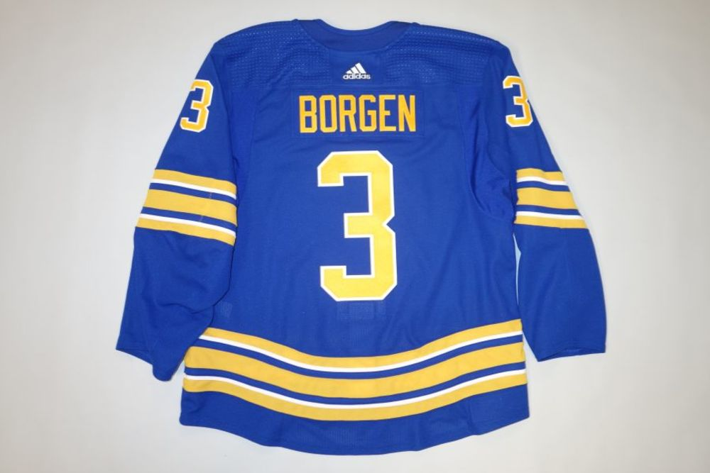 William Borgen 2020-21 Buffalo Sabres Set 2 Home Jersey